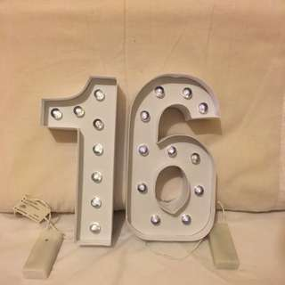 1 and 6 Light Up Signs
