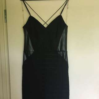 Lipsy Knee Length Black Strap Dress