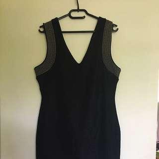 LBD Knee Length Black Dress