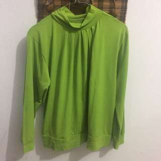 Long Sleeve Hijau (Kaos Panjang)
