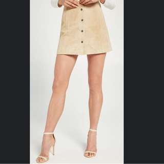NWT Bardot Blonde Suede Skirt - Sz 8 - RRP $160