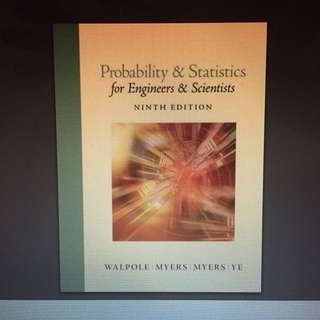 EC2303 Probability and statistics for Engineers & Scientists 9th Edition