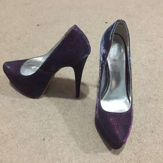 VERY High Purple Sparkly Heels
