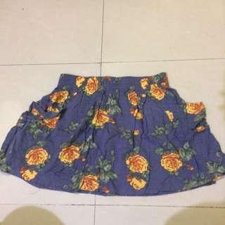 Mini Skirt Flower Big Size