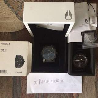 Nixon The Magnacon Gunmetal Ss & The Ride All Black Ss Murah