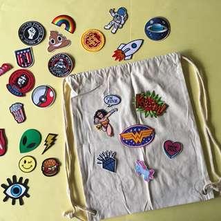 Blank Drawstring Bag - Beige