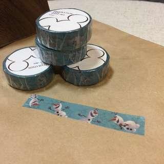 《秋葵本舖》日本迪士尼冰雪奇緣 雪寶紙膠帶/日本製