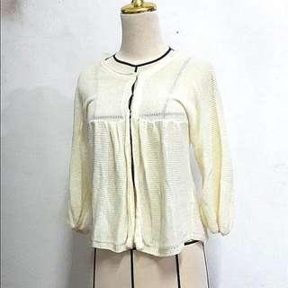 Cream White Knit Cardigan