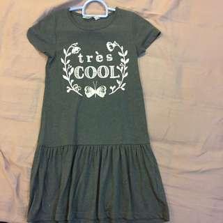 H&M Grey Cotton Dress