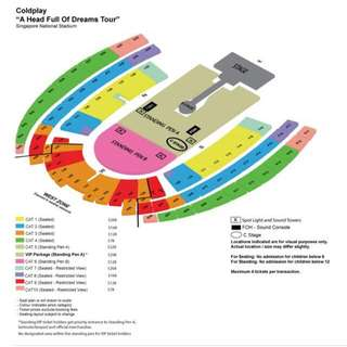 Selling a pair of Cat 9 tickets 31st March COLDPLAY