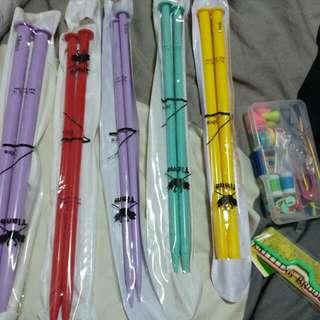 Brand New Knitting Sticks + Mini Knitting Set