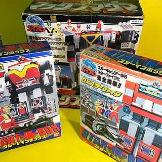 VERY RARE SUPER SENTAI 1990 EARTH SENTAI ROBOTS WITH GIANT BASE MASKED RYDER KAMEN RYDER GUNDAM BANDAI JAP LIMITED COLLECTOR EDITION POPY