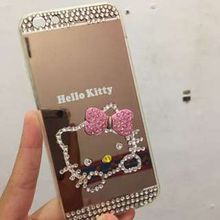 Preloved Softcase HelloKitty Mirror Iphone 6/6S