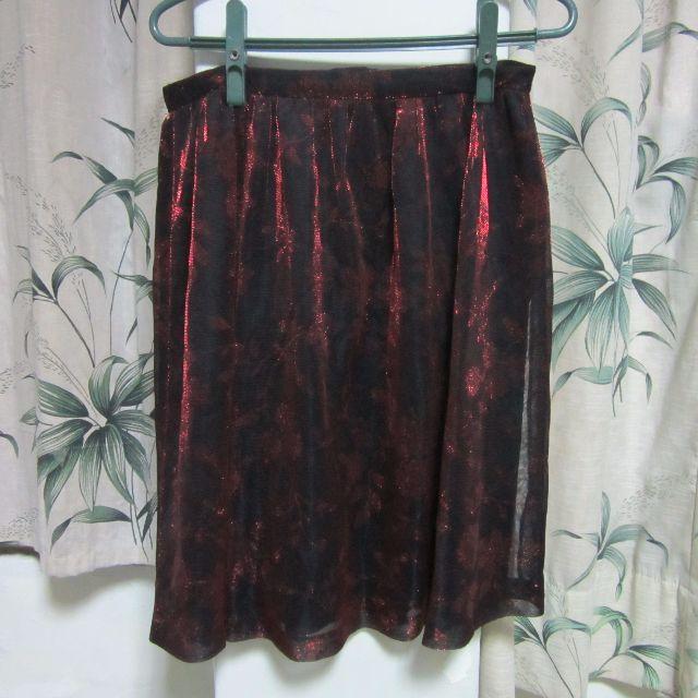 古著紅紗黑底五分裙