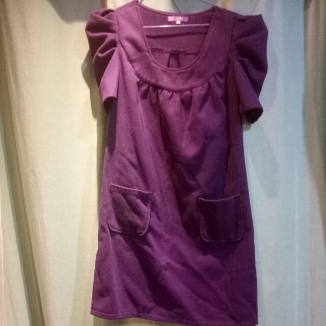 貴氣紫  冬季洋裝