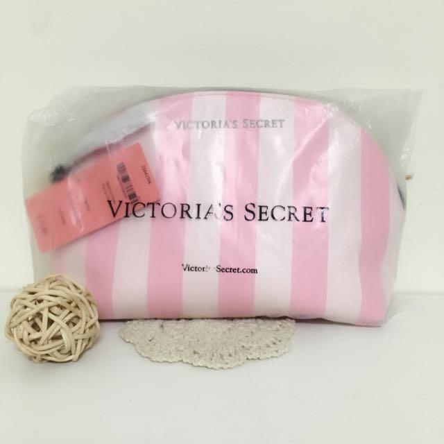 ✨全新正品✨ 維多莉亞粉色條紋化妝包