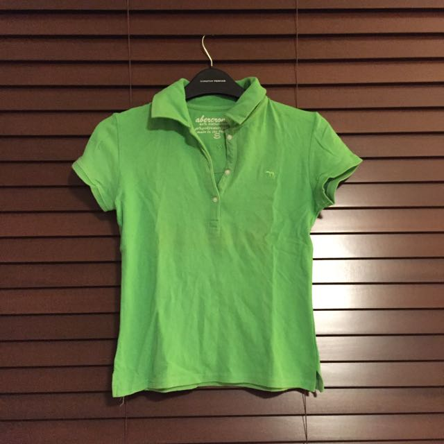 A&F Green Collared Shirt