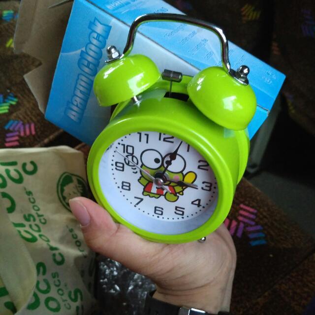 Khusus Cod Bekasi Kranji alarm clock keroppy