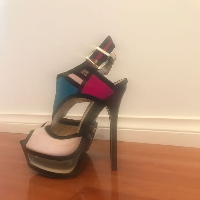 ALBA stiletto open toe heels. Great condition, used once. Stylish
