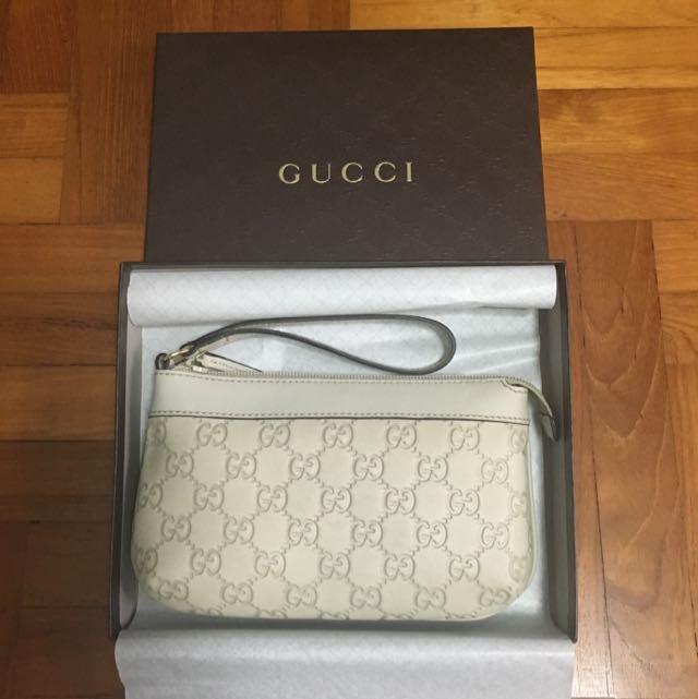 6debdc186c4 Authentic Brand New Gucci Guccissima Leather GG Monogram Wristlet ...
