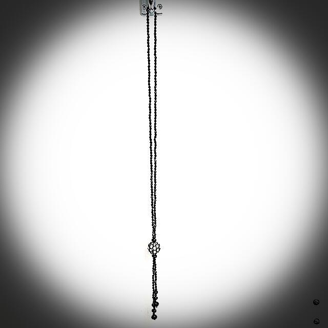 Black Crystals Necklace