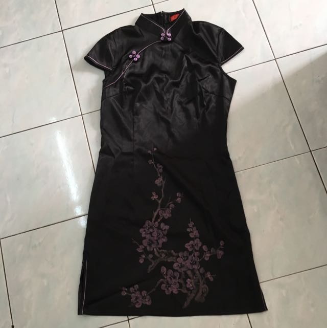 Black Elegant Cheongsam