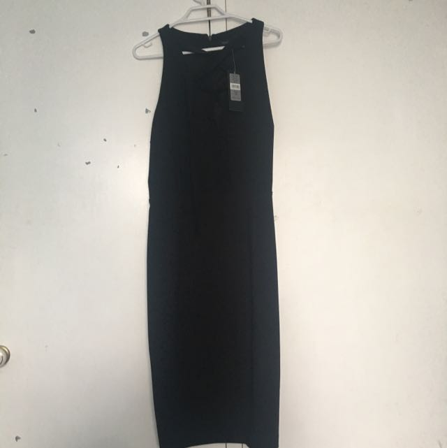 Black Knee Length Forever New Dress Size 12