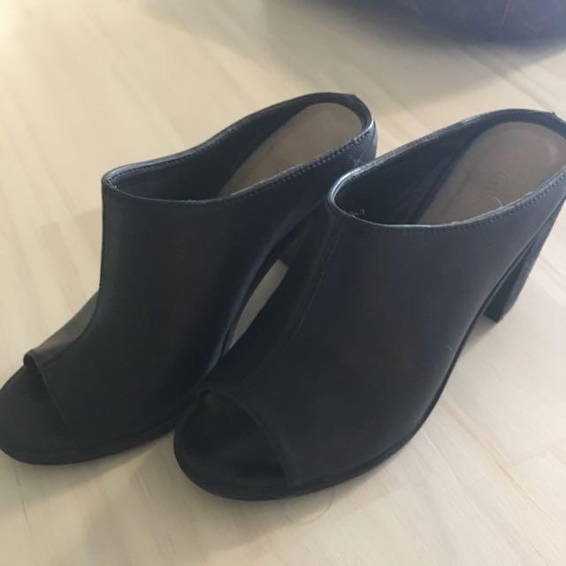 Black Mules Size 7 / 37