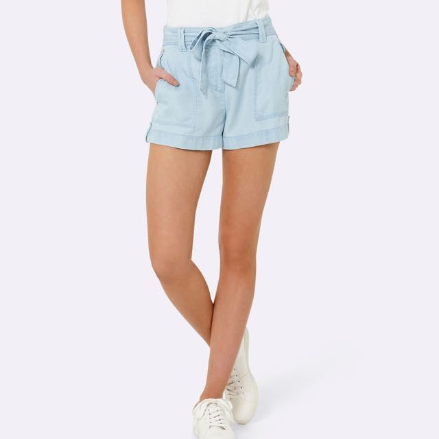 BNWT Forever New Thin Denim Tie Up Shorts