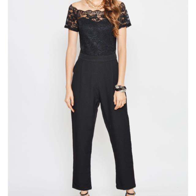 56fa3b14919 BNWT Love And Bravery Offshoulder Lace Jumpsuit