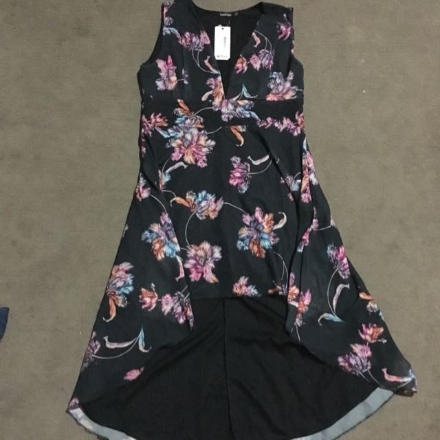Boohoo Floral Print Dress