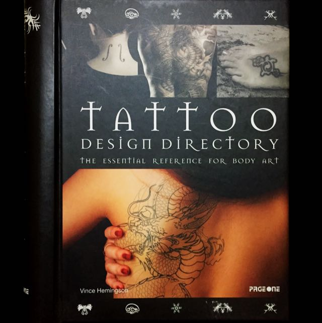 Book Tattoo Design Directory The Essential Reference For Body Art Books Stationery Fiction On Carousell