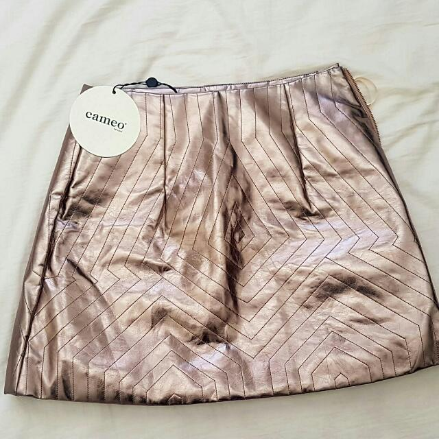Cameo Pewter mini skirt