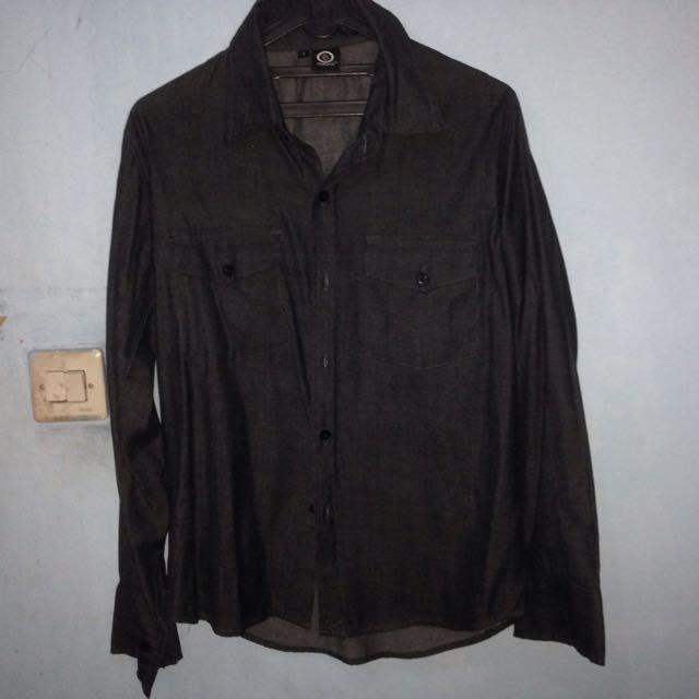 Chambray Long Shirt Dark Grey