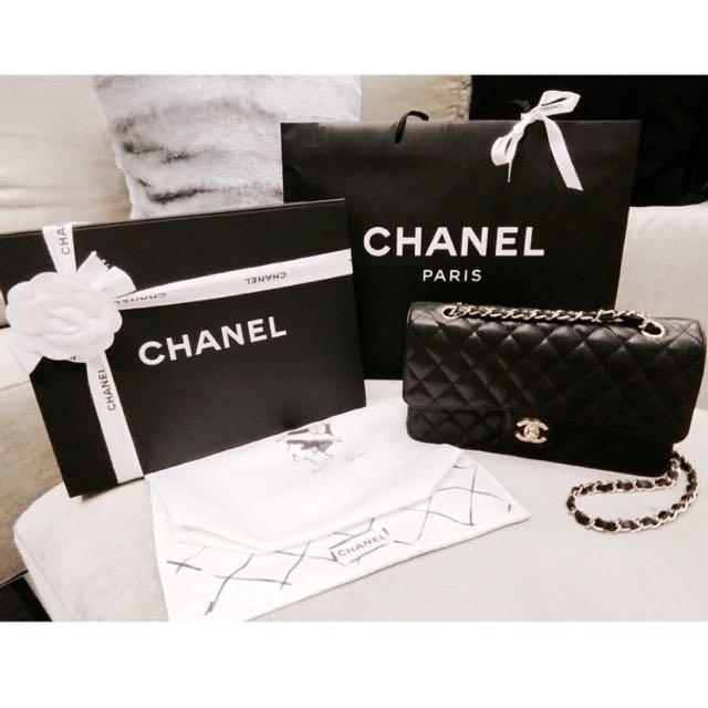 Chanel Coco25黑色 荔枝皮 金鏈