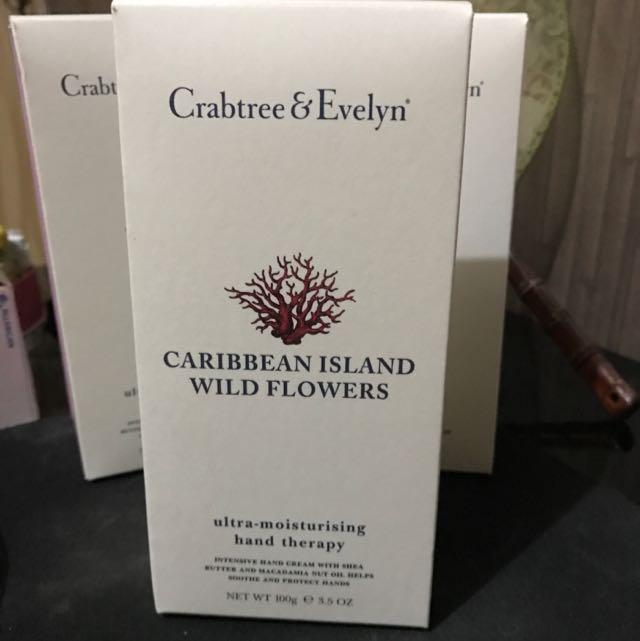 Crabtree & Evelynn Ultra Moisturising Hand Therapy Caribbean Island Wild Flowers