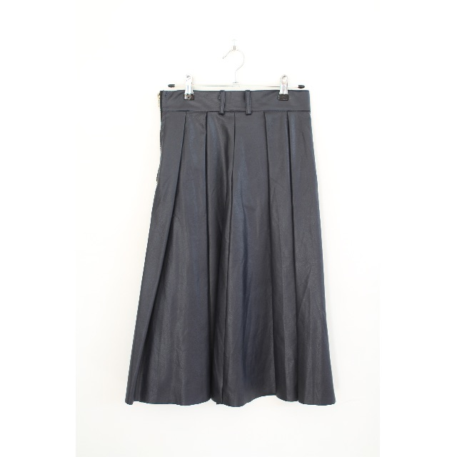 Cub Run fake leather dark navy skirt