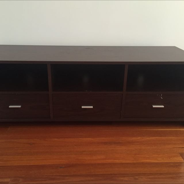 A$80 Dark Brown TV Stand/Entertainment Unit