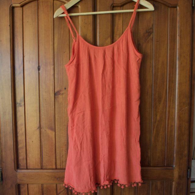 Detailed hem dress