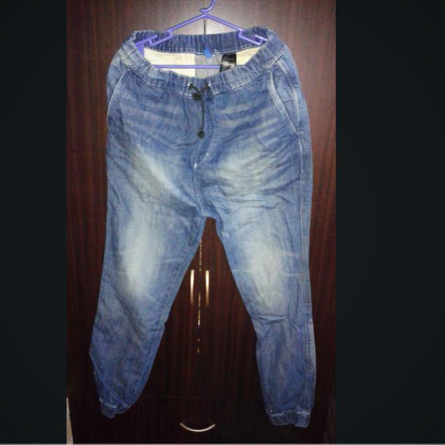 H&M Divided Jogger Denim Pants