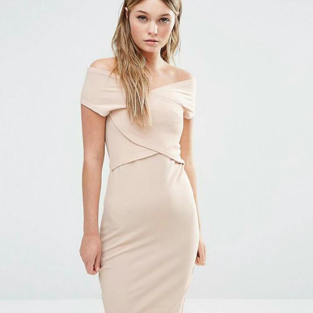 [BRAND NEW] Fashion Union Nude Bodycon Dress