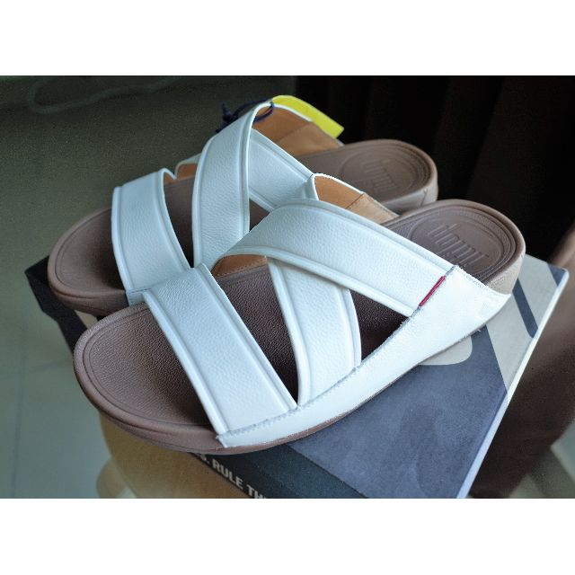 a86982fce FitFlop CHI™ LEATHER SLIDE SANDALS UK10 US11 EU44