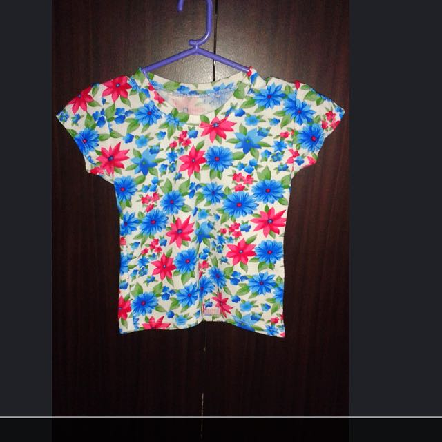 Floral Terno Blouse And Skirt