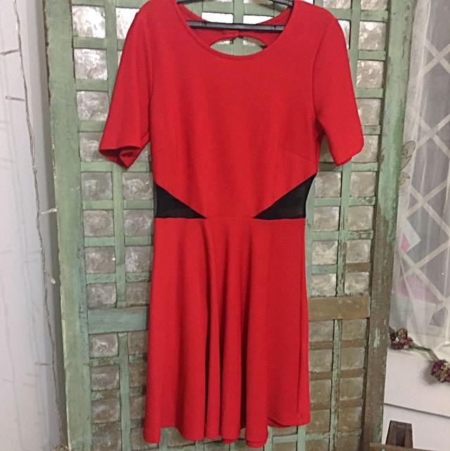 Forever 21 Red Dress - Backless