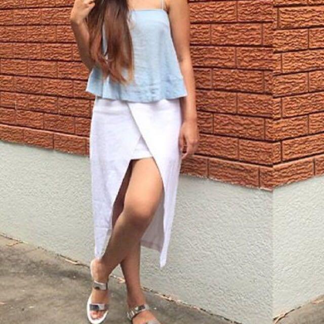 Glassons Linen Blend Wrap Skirt