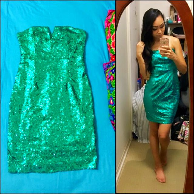 Green Sequin Dress | 6-8