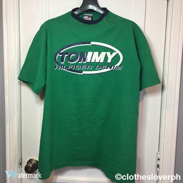 GREEN TOMMY HILFIGER SHIRT