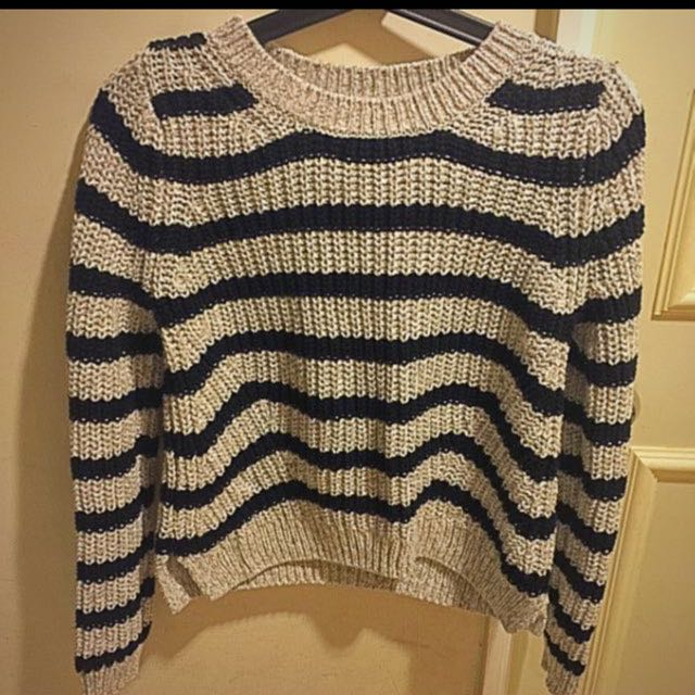 H&M 條紋針織毛衣