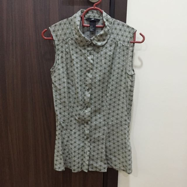 H&M Olive Green Light Cotton Top