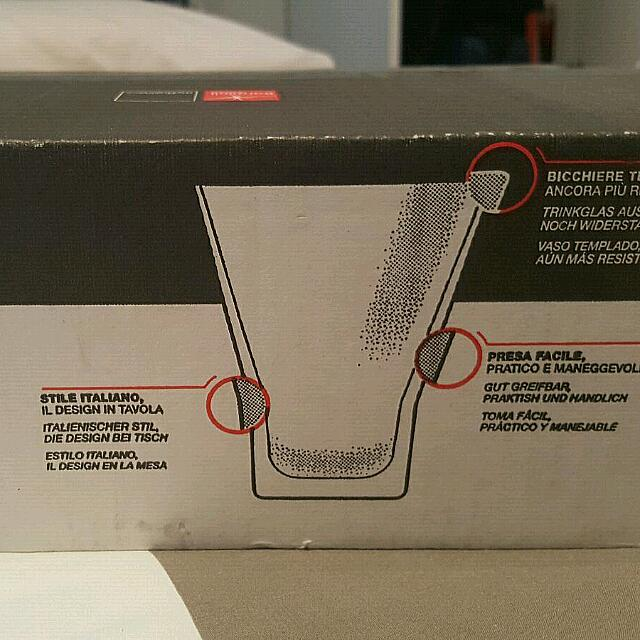 Italian made Drinking Glasses / New in box.